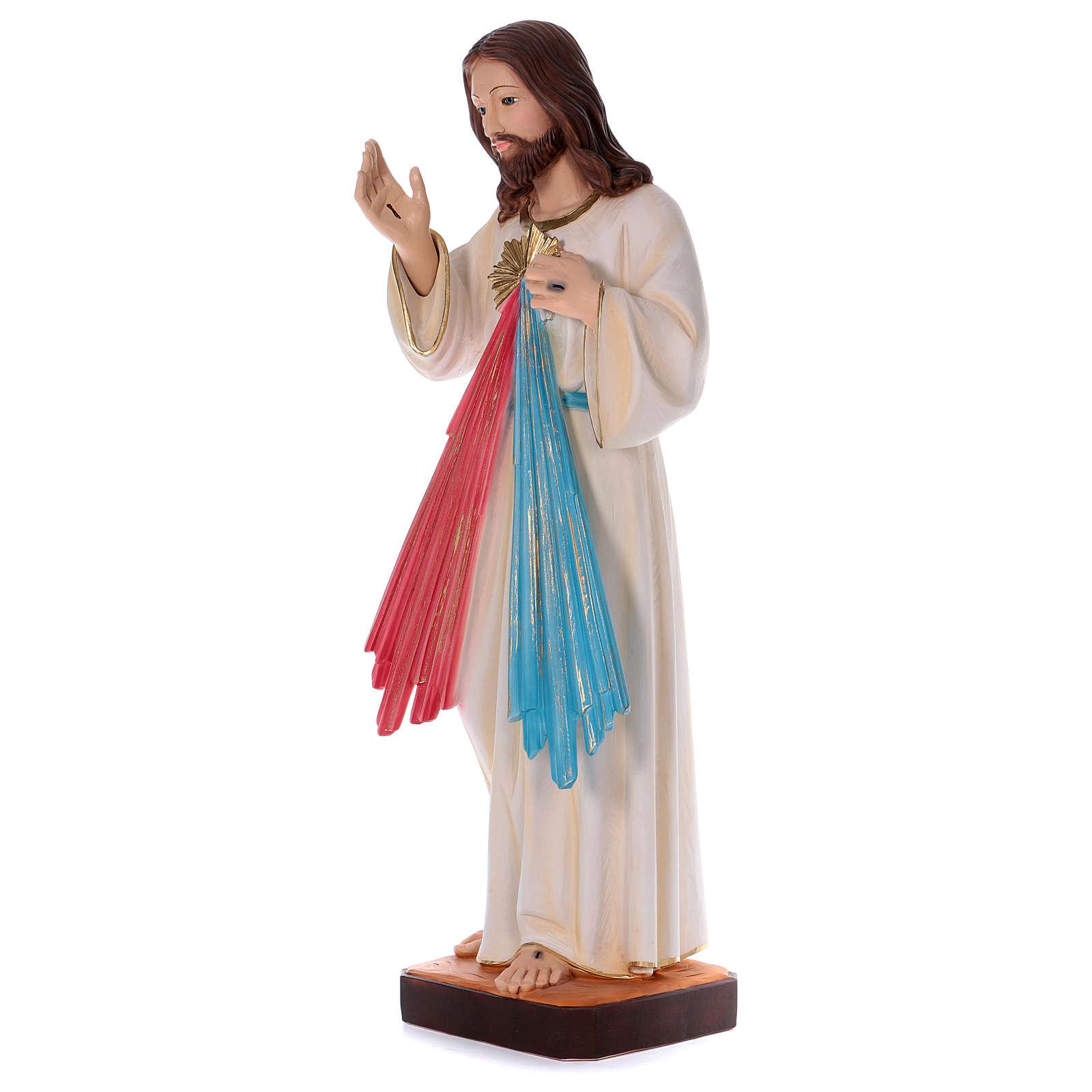 Divine Mercy statue in pearlized plaster 90 cm 4
