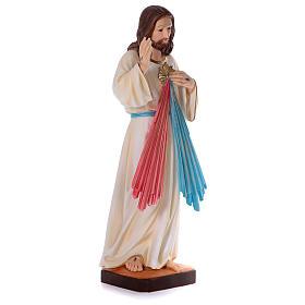 Estatua Jesús Misericordioso yeso nacarado 90 cm s4