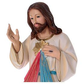 Statua Gesù Misericordioso gesso madreperlato 90 cm s2