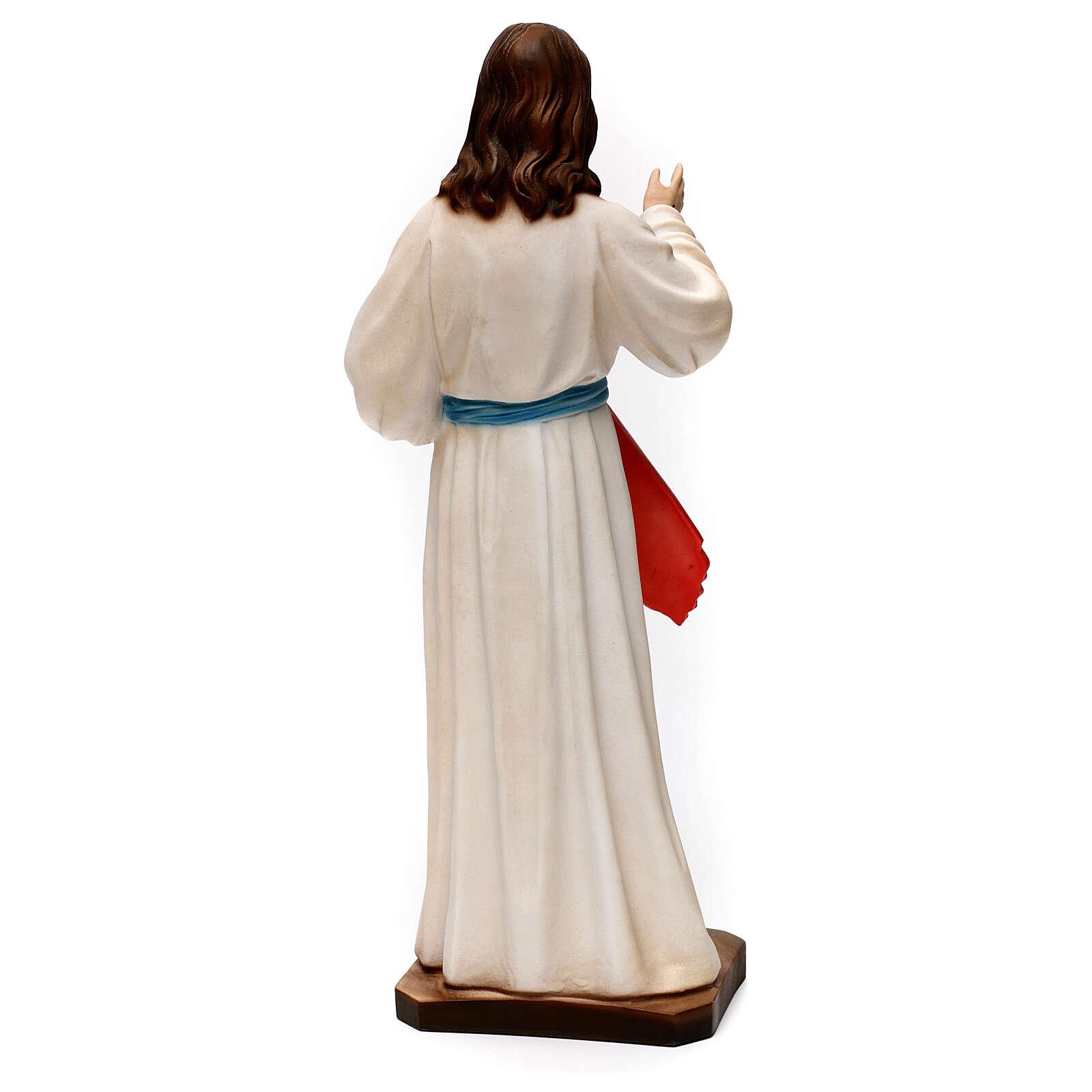 Imagem Jesus Misericordioso 40 cm gesso 4