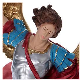St. Michael statue in plaster 100 cm s2