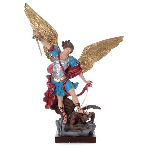 St. Michael statue in plaster 100 cm 1