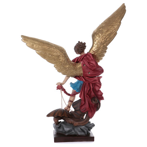 San Michele 100 cm statua in gesso 7