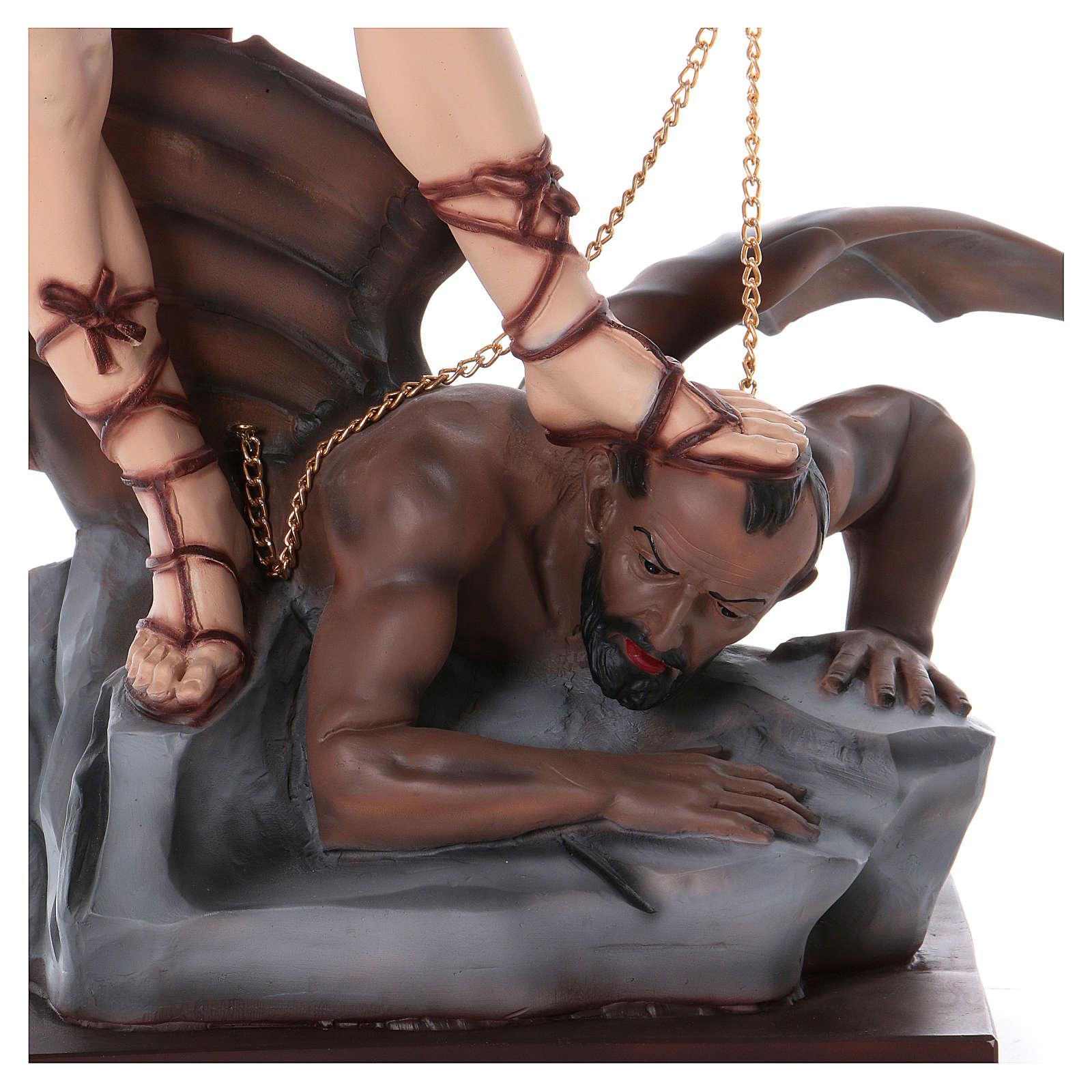 St Michael 100 cm statue in plaster 4