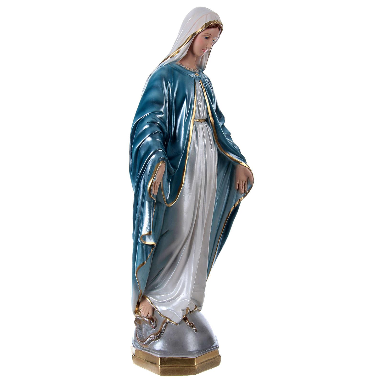 Vierge Miraculeuse 60 cm plâtre nacré 4