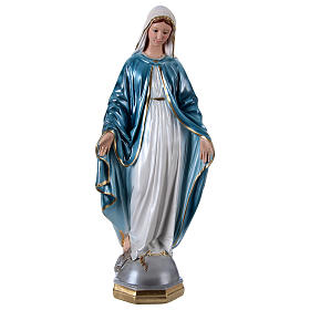 Vierge Miraculeuse 60 cm plâtre nacré s1