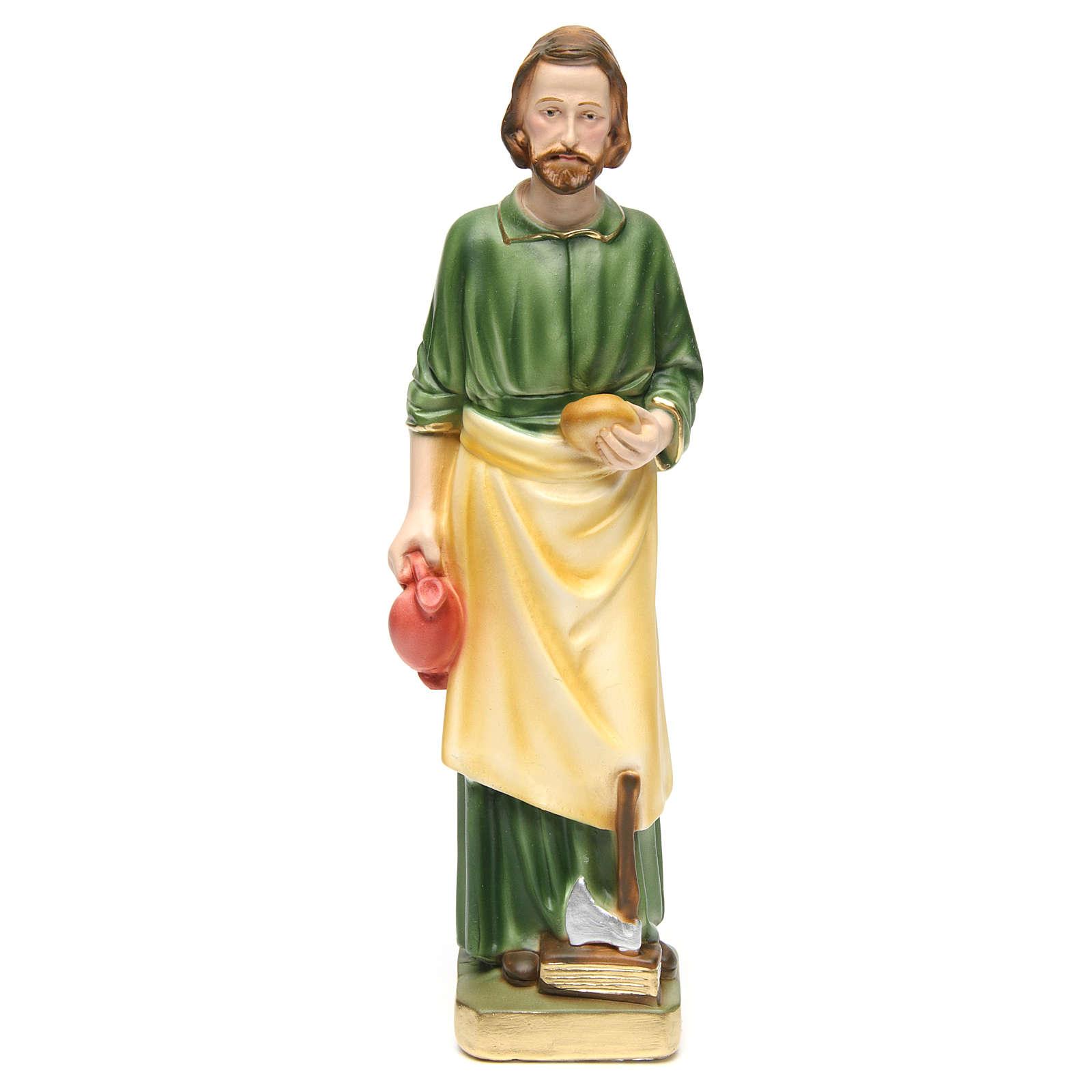 Heliger Josef mit Arbeitsgeräte 30cm bemalten Gips 4