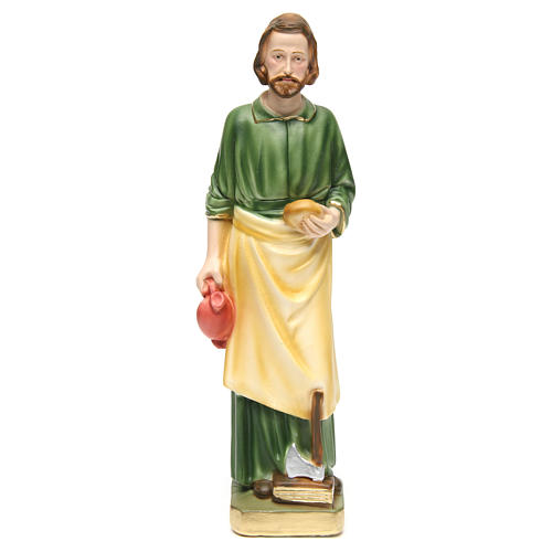 Heliger Josef mit Arbeitsgeräte 30cm bemalten Gips 1