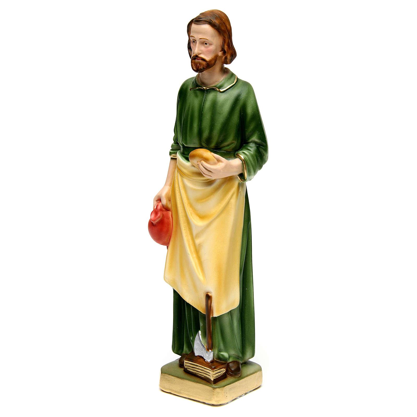Estatua de yeso San José Trabajador 30 cm 4