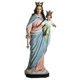 Statues en résine et PVC: Vierge auxiliatrice résine 130 cm