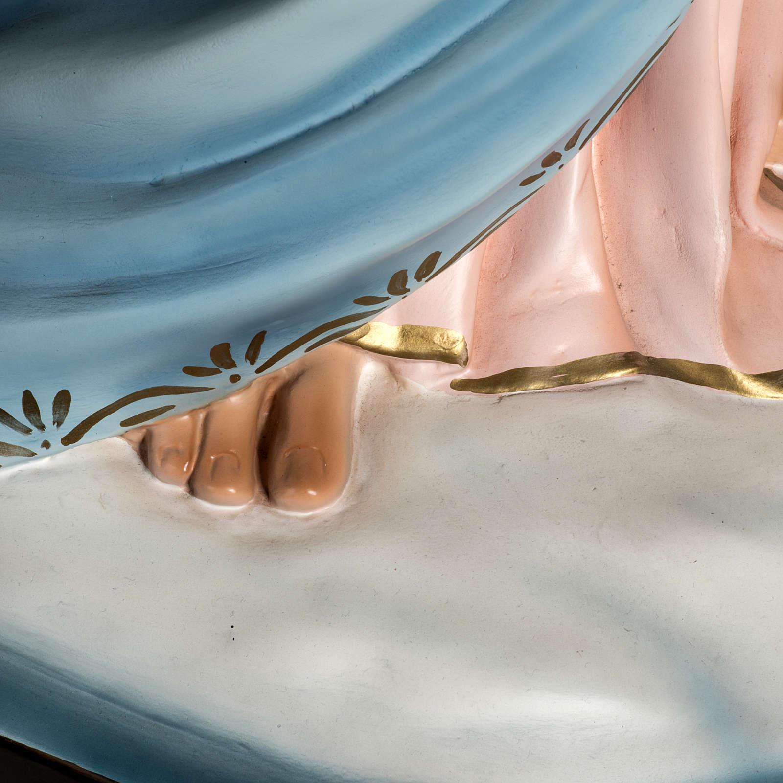 Madonna Ausiliatrice resina 130 cm occhi cristallo 4