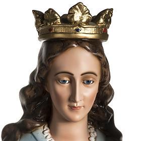 Madonna Ausiliatrice resina 130 cm occhi cristallo s5