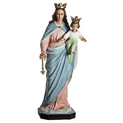 Madonna Ausiliatrice resina 130 cm occhi cristallo 1