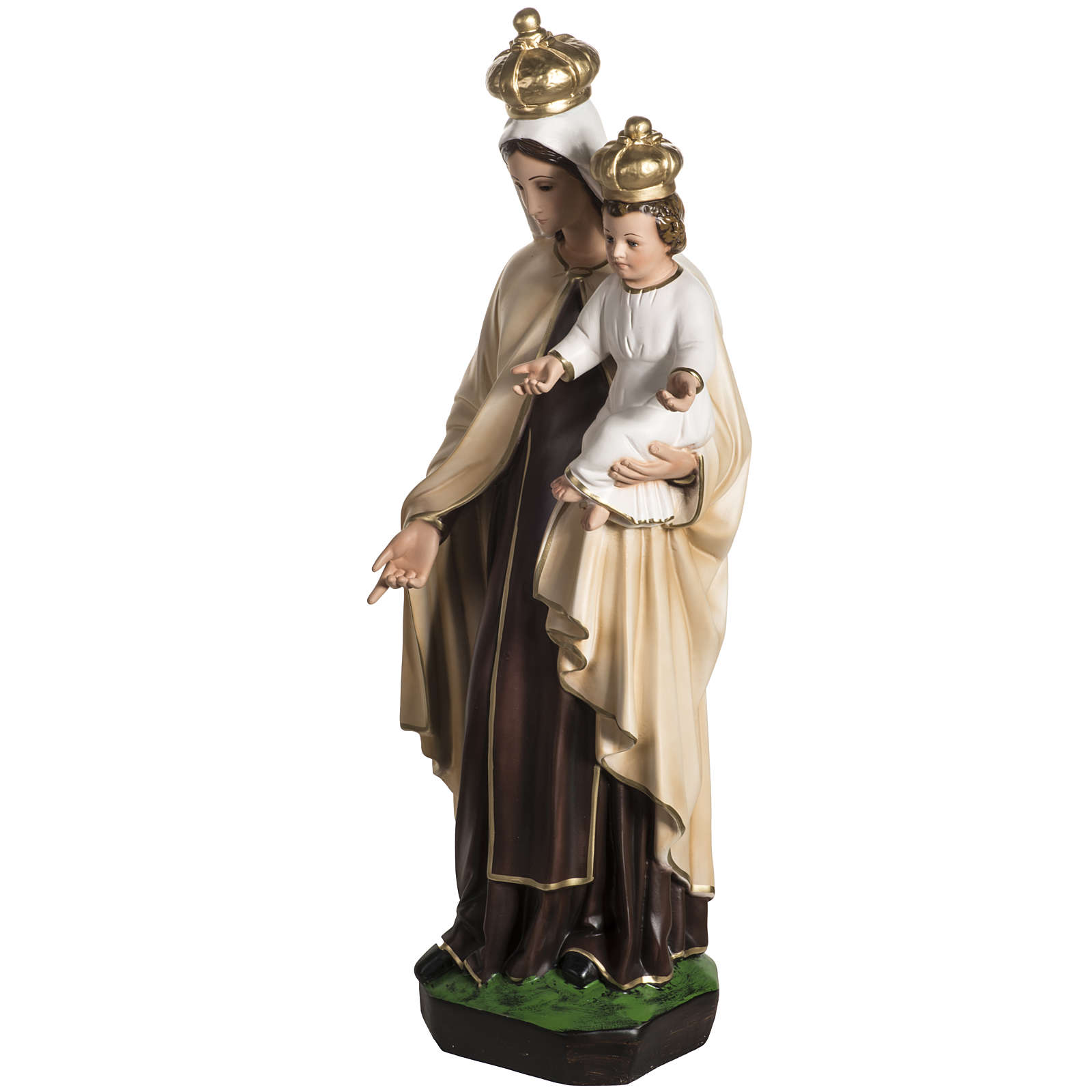Our Lady  of Carmel statue in resin, 60 cm 4