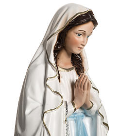 Statue of Our Lady of Lourdes in resin 40 cm s4