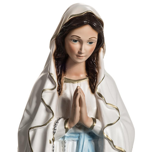 Statue of Our Lady of Lourdes in resin 40 cm 2