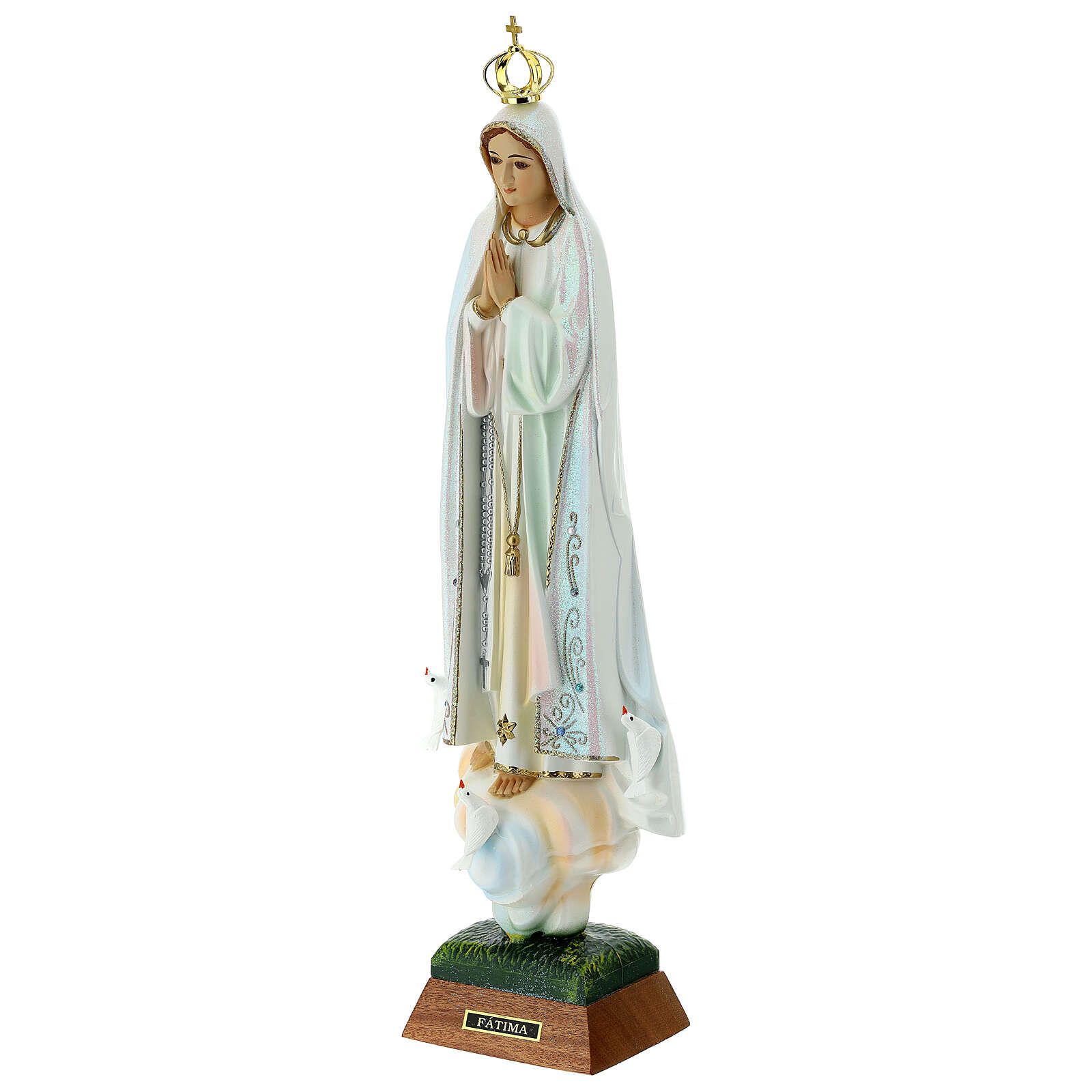 Gottesmutter von Fatima mit Tauben aus Harz 4