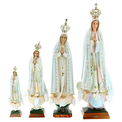Gottesmutter von Fatima mit Tauben aus Harz 3