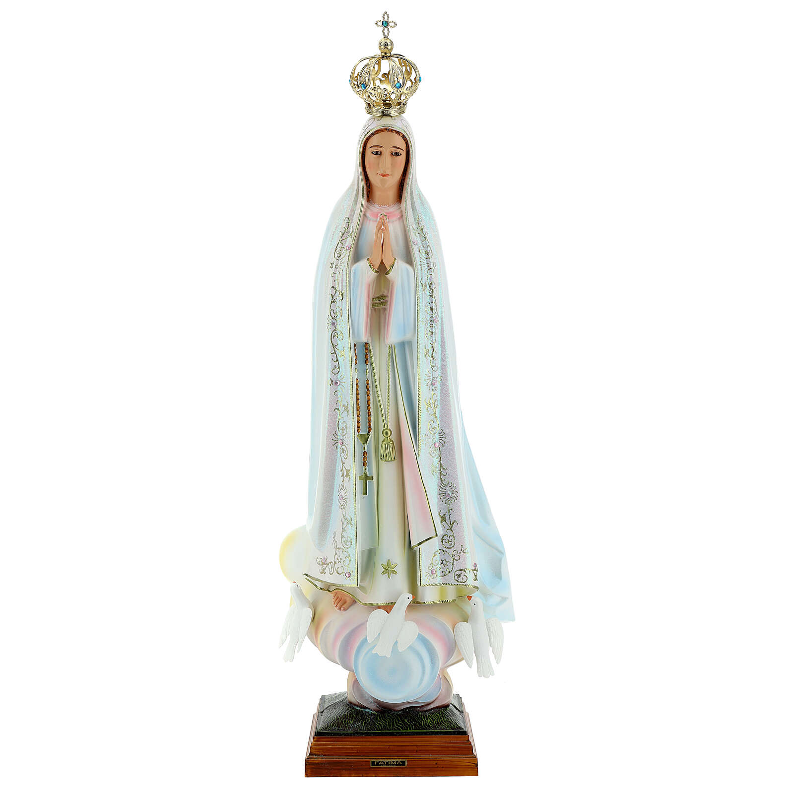 Virgen de Fátima con palomas en resina 4