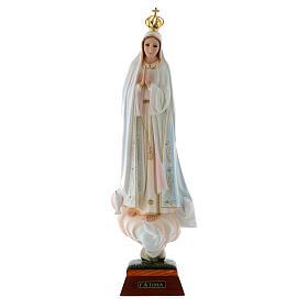 Virgen de Fátima con palomas en resina s1