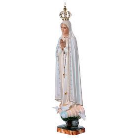 Virgen de Fátima con palomas en resina s4