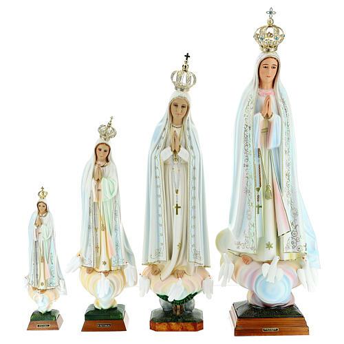 Virgen de Fátima con palomas en resina 3
