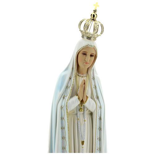 Virgen de Fátima con palomas en resina 5
