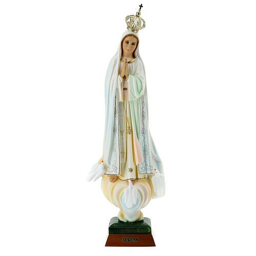 Virgen de Fátima con palomas en resina 6
