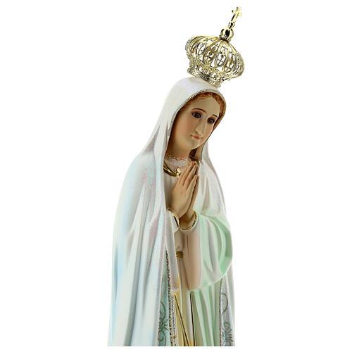 Virgen de Fátima con palomas en resina 7