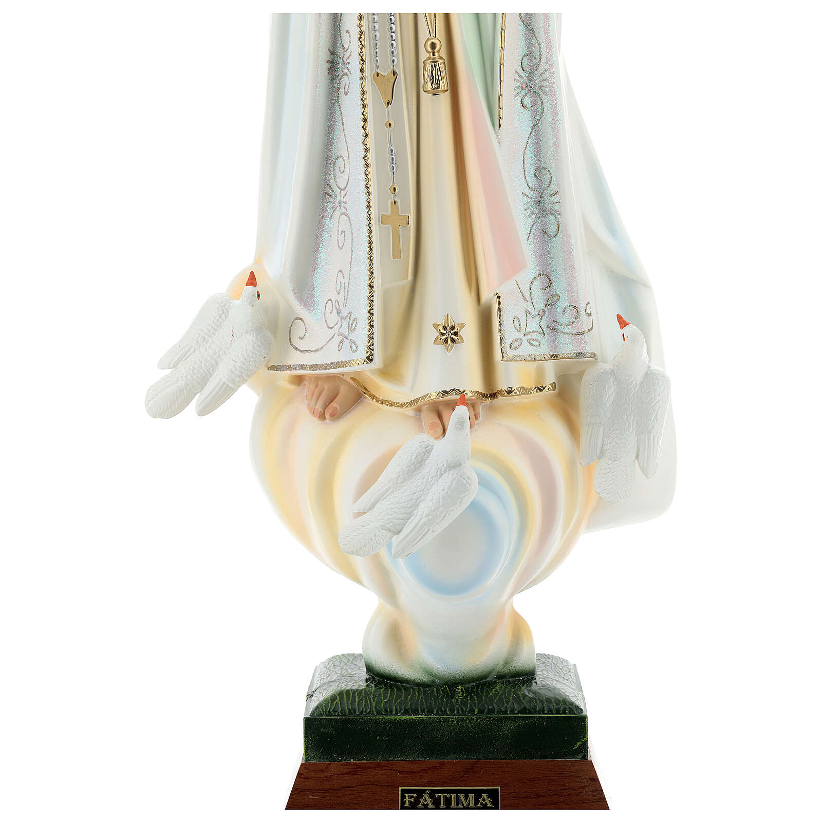 Madonna di Fatima con colombe resina varie misure 4
