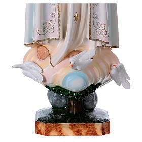 Madonna di Fatima con colombe resina varie misure s3