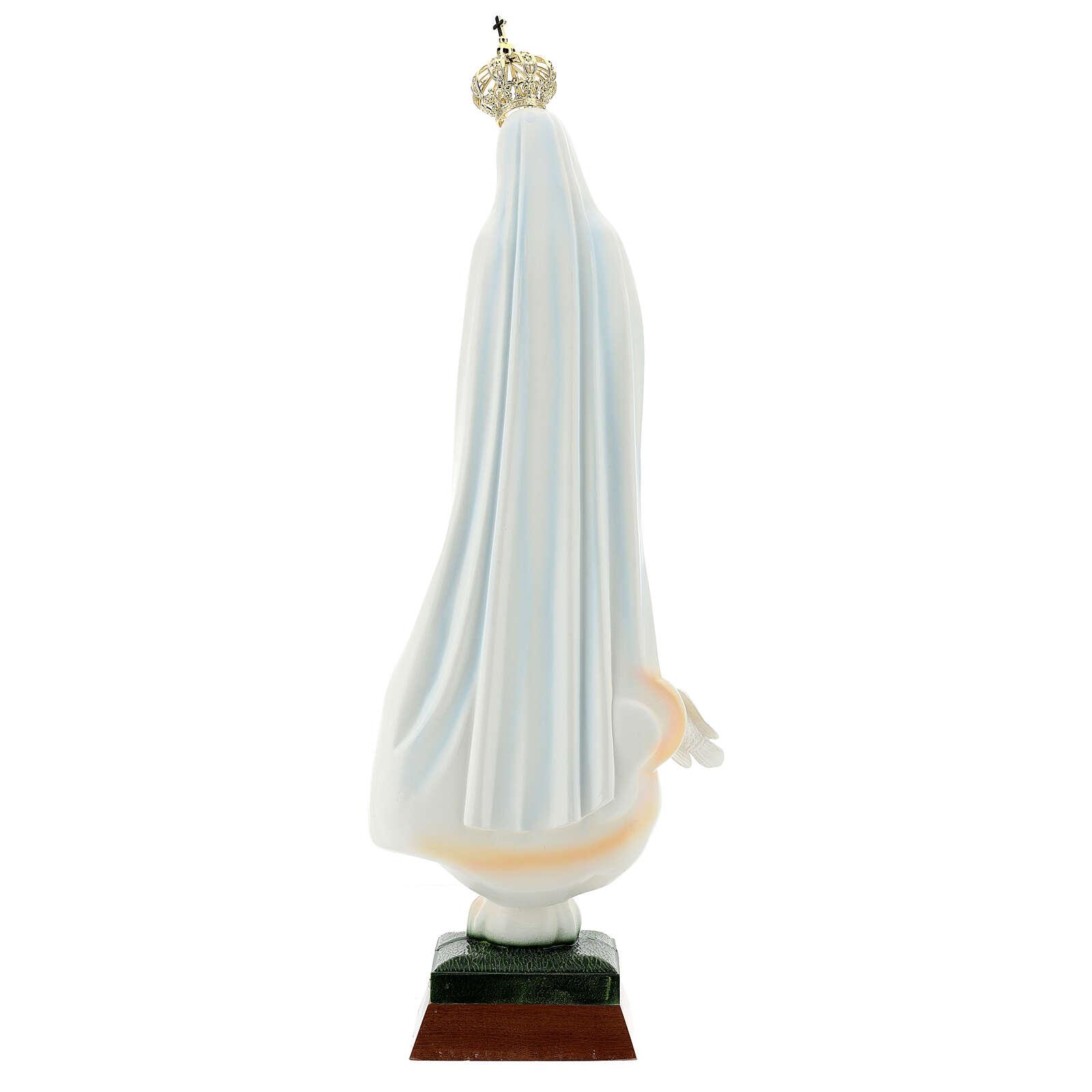 Nossa Senhora de Fátima com pombas resina tamanhos diferentes 4