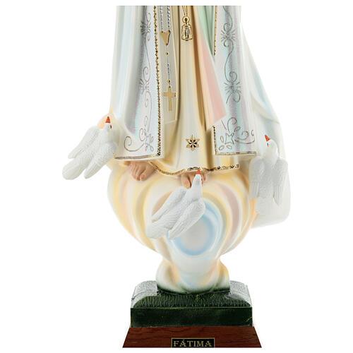 Nossa Senhora de Fátima com pombas resina tamanhos diferentes 5
