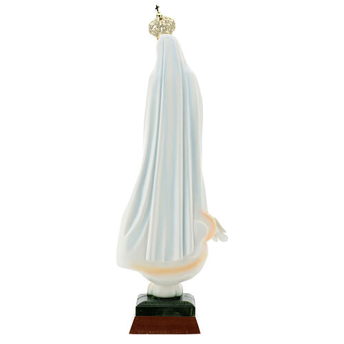 Nossa Senhora de Fátima com pombas resina tamanhos diferentes 6
