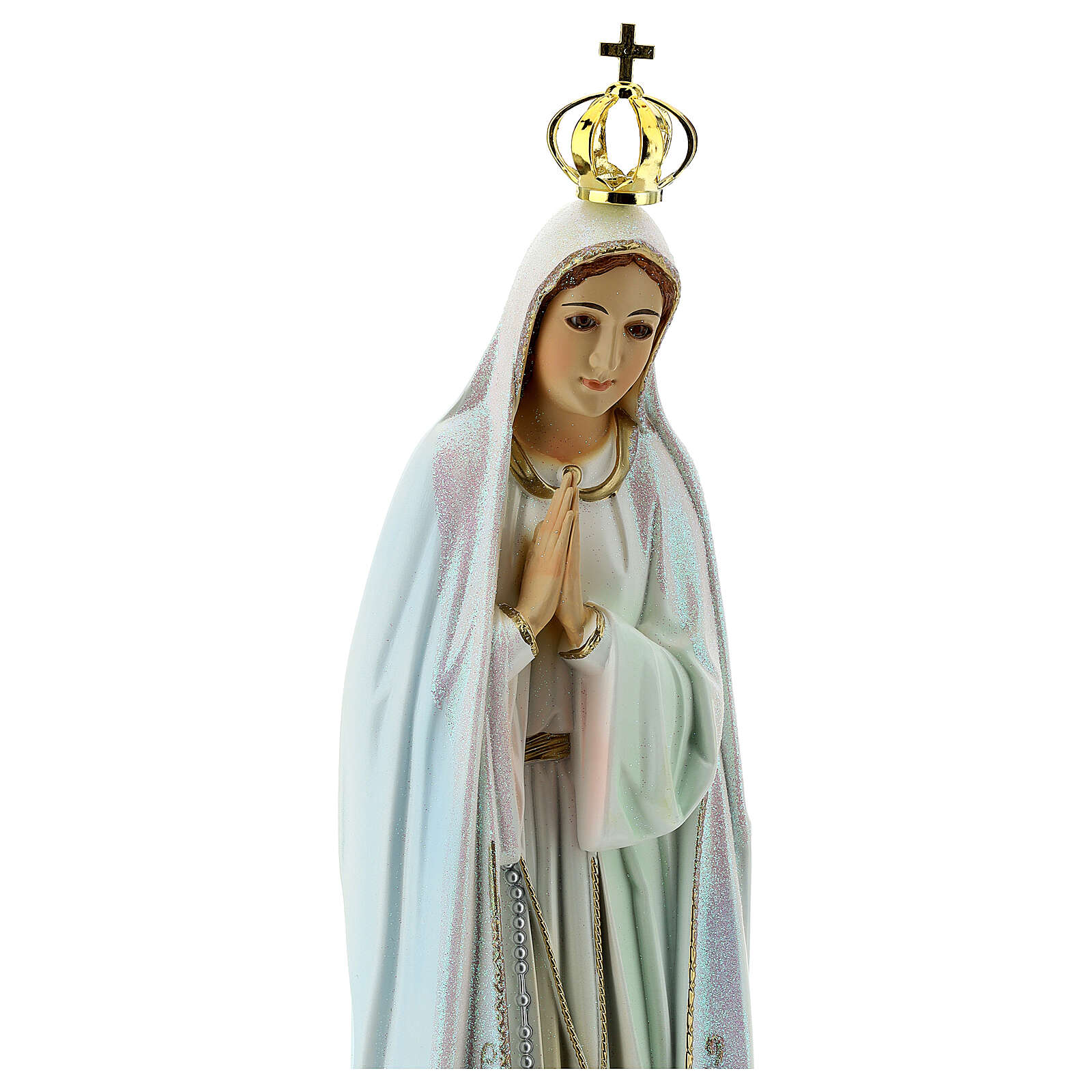Our Lady of Fatima with Doves, resin made statue 4
