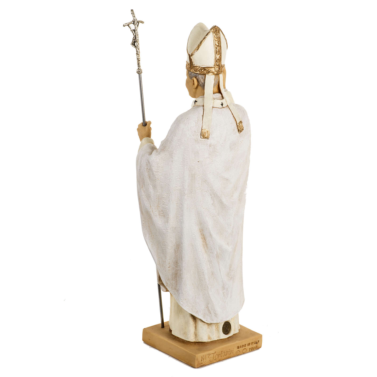 Juan Pablo II túnica blanca 50 cm. resina Fontanini 4