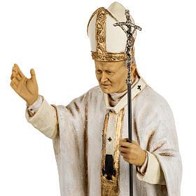 Jean Paul II veste blanche 50 cm résine Fontanini s3