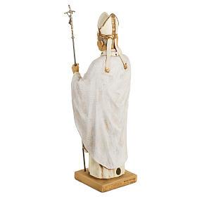 Jean Paul II veste blanche 50 cm résine Fontanini s5