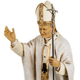 Giovanni Paolo II veste bianca 50 cm resina Fontanini s3