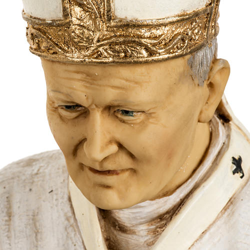 Giovanni Paolo II veste bianca 50 cm resina Fontanini 4