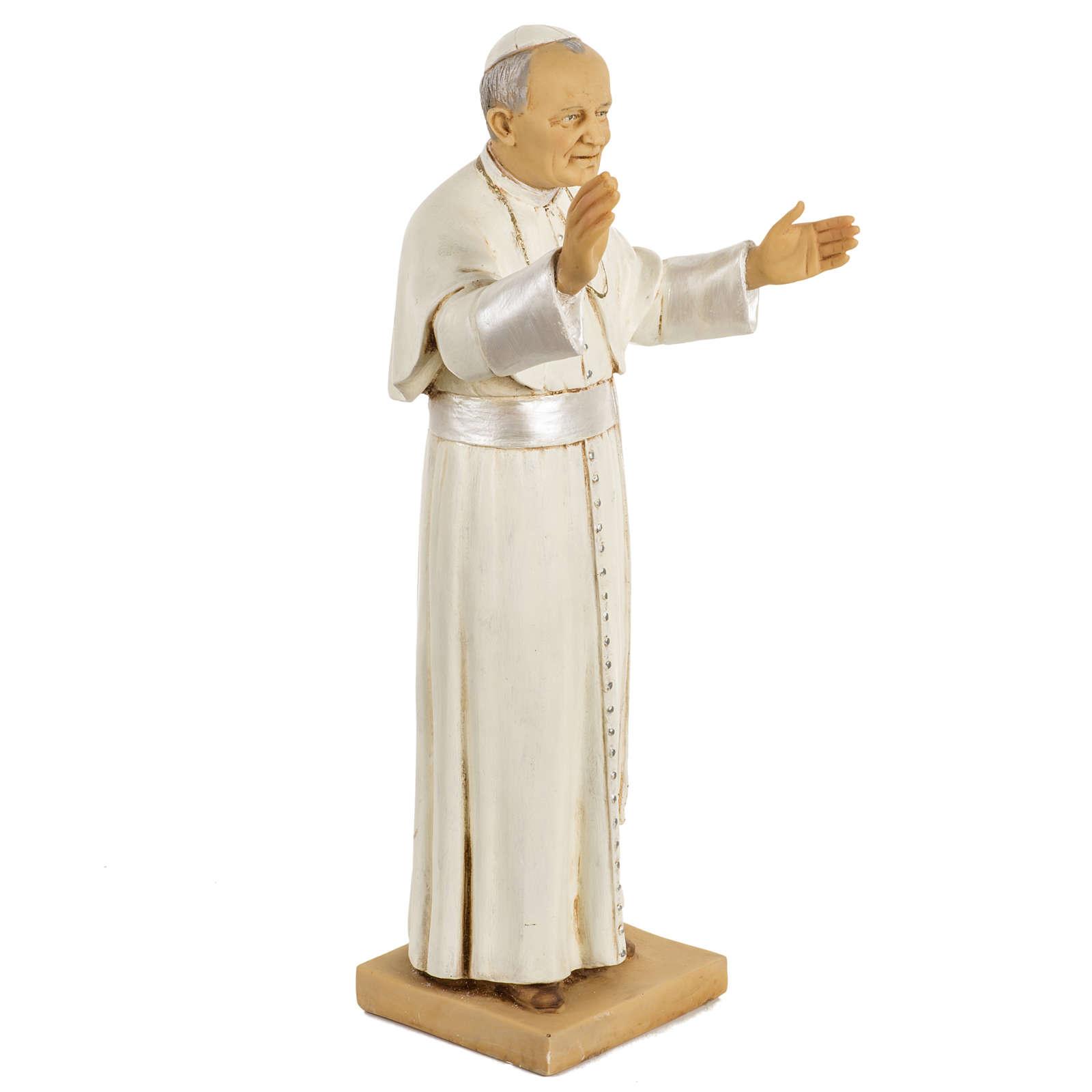 Juan Pablo II 50 cm. resina Fontanini 4