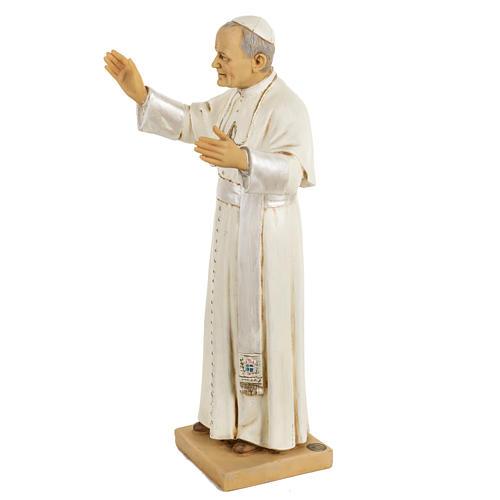 Juan Pablo II 50 cm. resina Fontanini 3