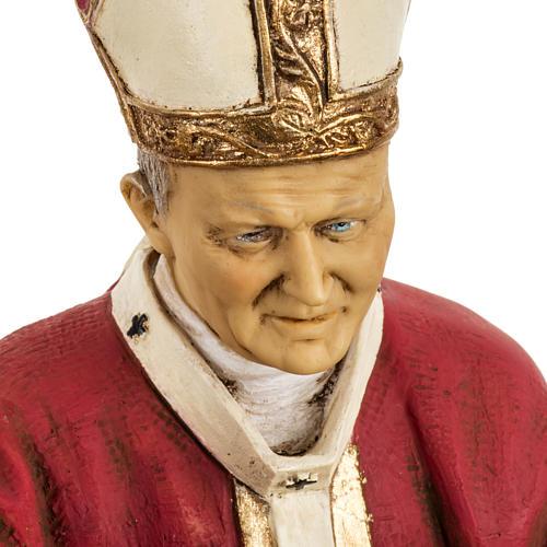 Jean Paul II veste rouge 50 cm résine Fontanini 2