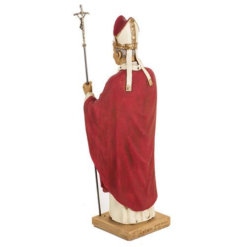 Jean Paul II veste rouge 50 cm résine Fontanini 5