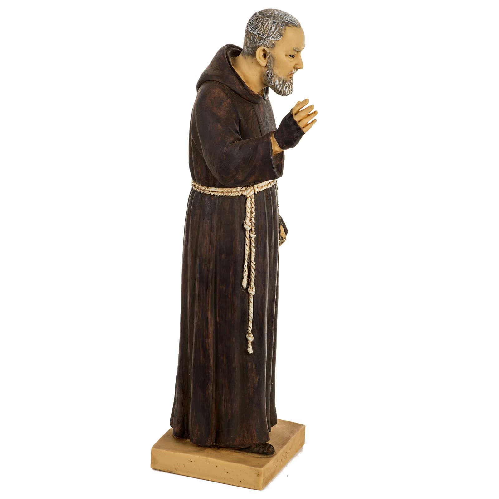 Statue Saint Pio 50 cm résine Fontanini 4
