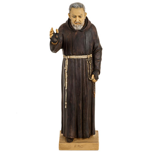 Statue Saint Pio 50 cm résine Fontanini 1