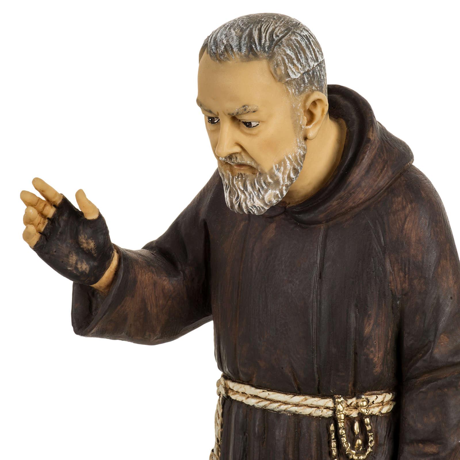 Imagem Padre Pio de Pietrelcina 50 cm resina Fontanini 4