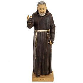 Imagem Padre Pio de Pietrelcina 50 cm resina Fontanini s1
