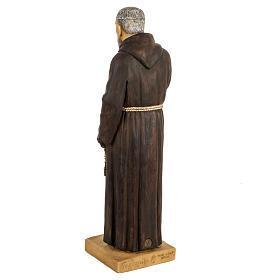Imagem Padre Pio de Pietrelcina 50 cm resina Fontanini s4