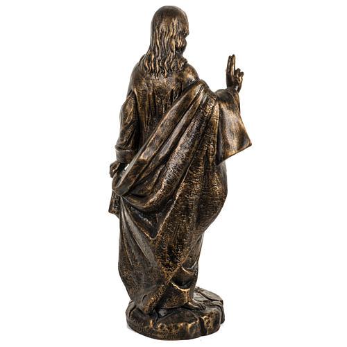 Sacro Cuore di Gesù 50 cm resina Fontanini finitura bronzo 5